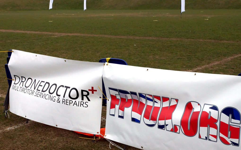 Drone Doctor Banner at International Drone Day Miniature Airshow in Rottingdean