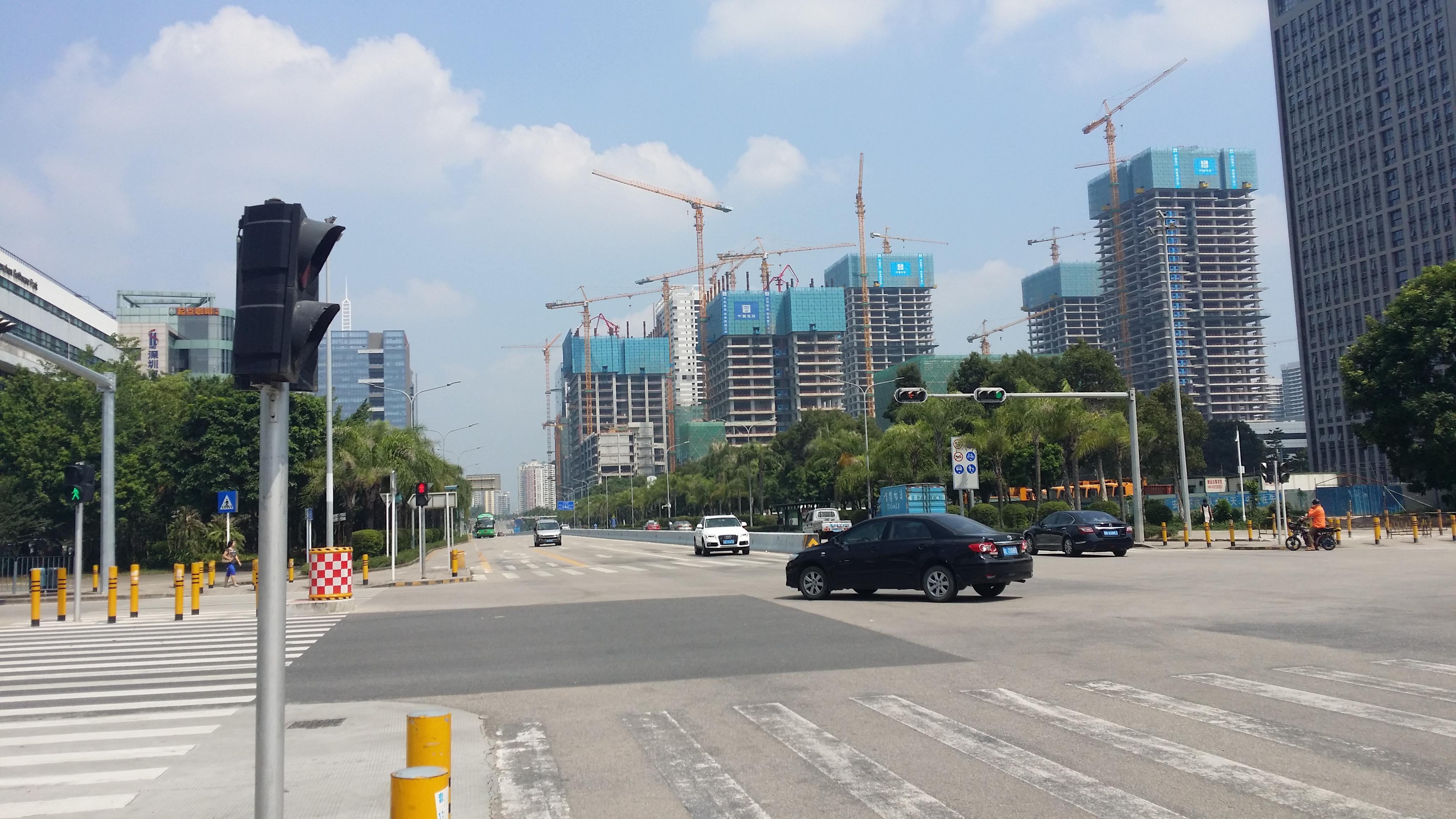 A spot of building in progress in Shenzhen.